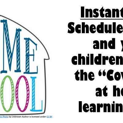 School Schedule To Help Create Structure Now That The Kids Are Home