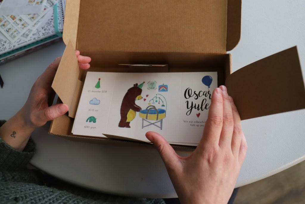 geboortekaartje zelf ontworpen oscar yule samenwerking momspiration