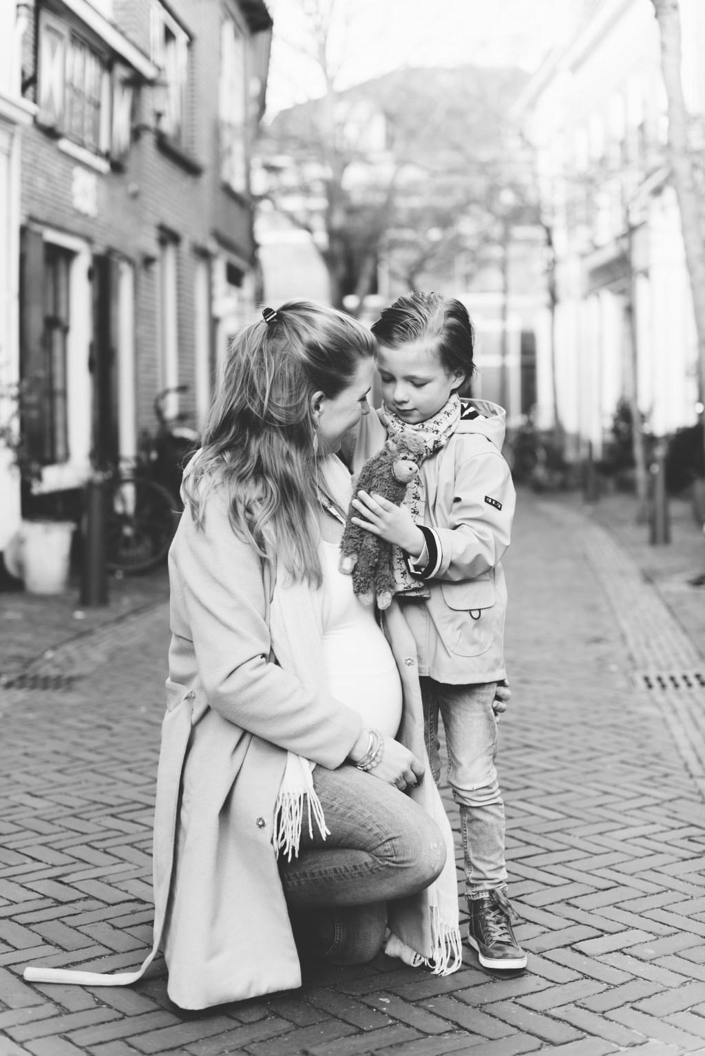 Momspiration zwanger fotoshoot brief jongensmama