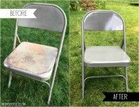DIY Spray Painting Metal Folding Chairs - Mom Spotted