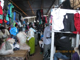 The local market where the blacks shop. There was no electricity.