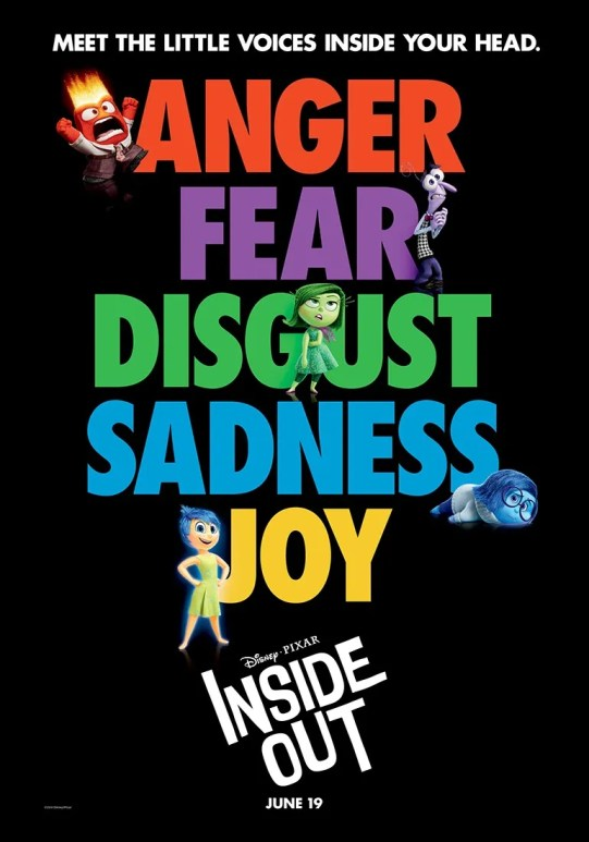 Feeling Inside Out - Joy, Fear, Sadness, Anger, Disgust
