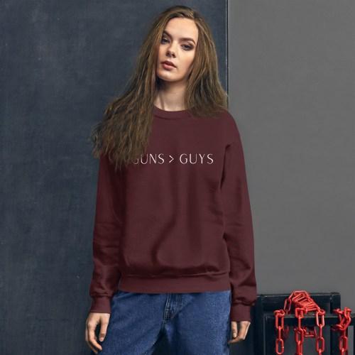 Guns > Guys Crew Neck Sweatshirt