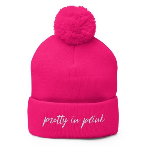 Pretty in Plink Pom-Pom Beanie