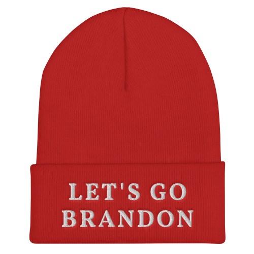 Let's Go Brandon Cuffed Beanie