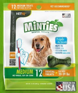 VetIQ Skin & Coat Omega-3 and Minties Dental Treats — Vet-Recommended Quality, Made in the USA