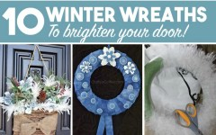 DIY — 10 Winter Wreaths to Brighten Your Door