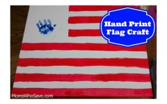 hand print flag craft