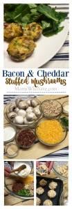 Bacon Cheddar Stuffed Mushrooms (+ Vegetarian Option)
