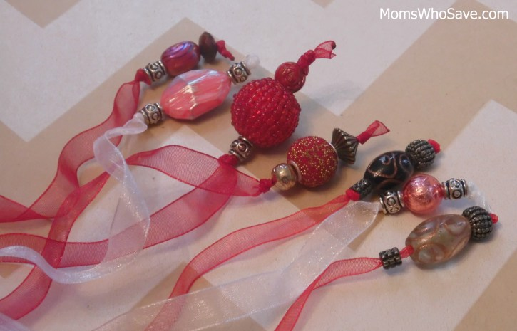 bead and ribbon book marks
