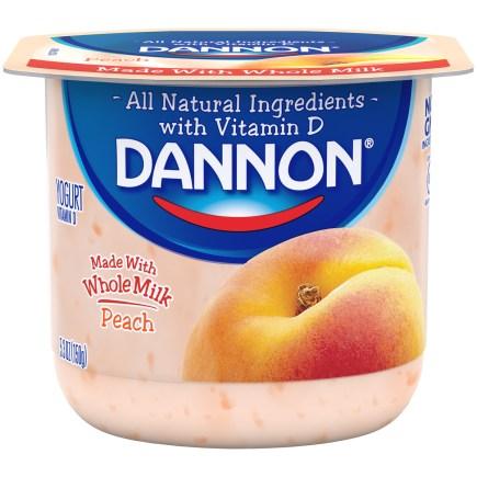 Dannon Whole Milk yogurt
