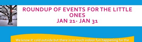 Southern Maryland Events for the Little Ones: Jan 21- Jan 31