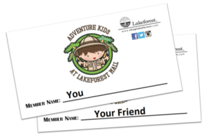 Adventure Kids Club Cards Lake ForestMall