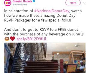 national dounut day dunkin donuts