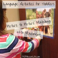 Language Activities for Toddlers - Picture to Picture Matching with Movement