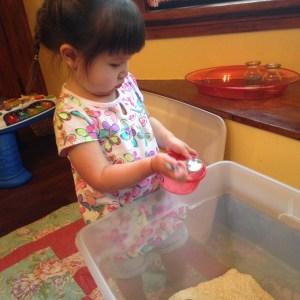 rice sensory bin 3