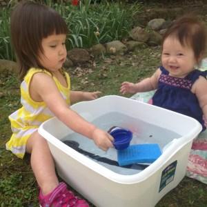 water sensory bin 2