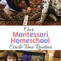Our Montessori Homeschool Circle Time Routine