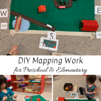 DIY Mapping Work for Preschool & Elementary