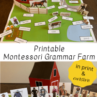 Printable Montessori Grammar Farm In Print & Cursive