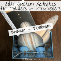 Solar System Activities for Toddlers and Preschoolers -- Rotation and Revolution