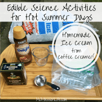 Edible Science Activities for Hot Summer Days -- How to Make Homemade Ice Cream from Coffee Creamer