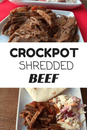 Crockpot Shredded Beef @katieserbinski