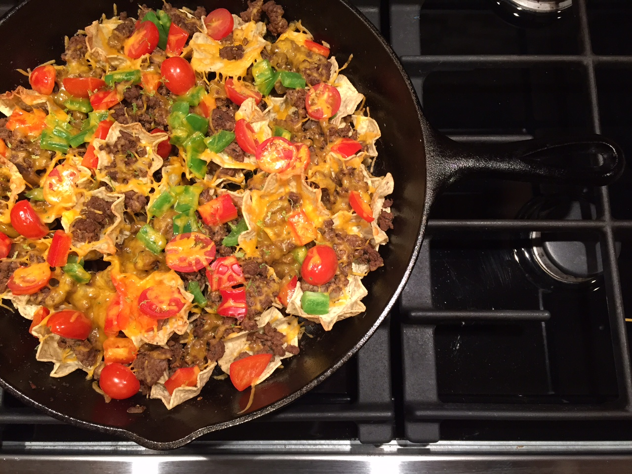 Ground Beef Skillet Nachos - Mom to Mom Nutrition