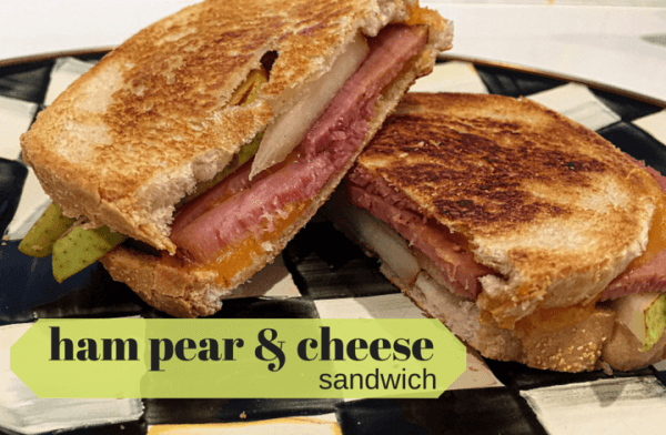 Grilled Ham and Cheese with Pears @katieserbinski