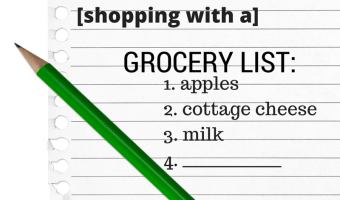 5 Reasons to Shop with a Grocery List [+ my weekly list]