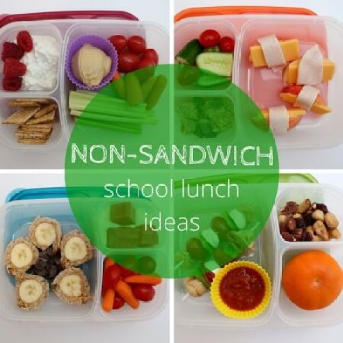 While sandwiches are the easiest lunch option, if your child won't eat them, you need options. Here are 4 healthy non-sandwich school lunch ideas!