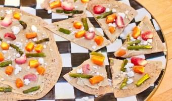 Roasted Vegetable and Hummus Flatbread