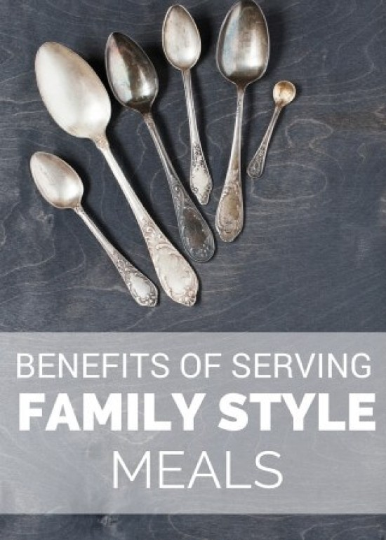 Learn how one Mom makes the most of childhood independence with the basics and benefits behind serving family style meals.