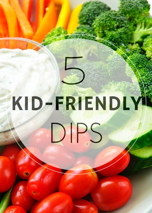 Offering kid-friendly dips alongside fruits, veggies, and new foods gives kids the creativity and want to take a bite or two!