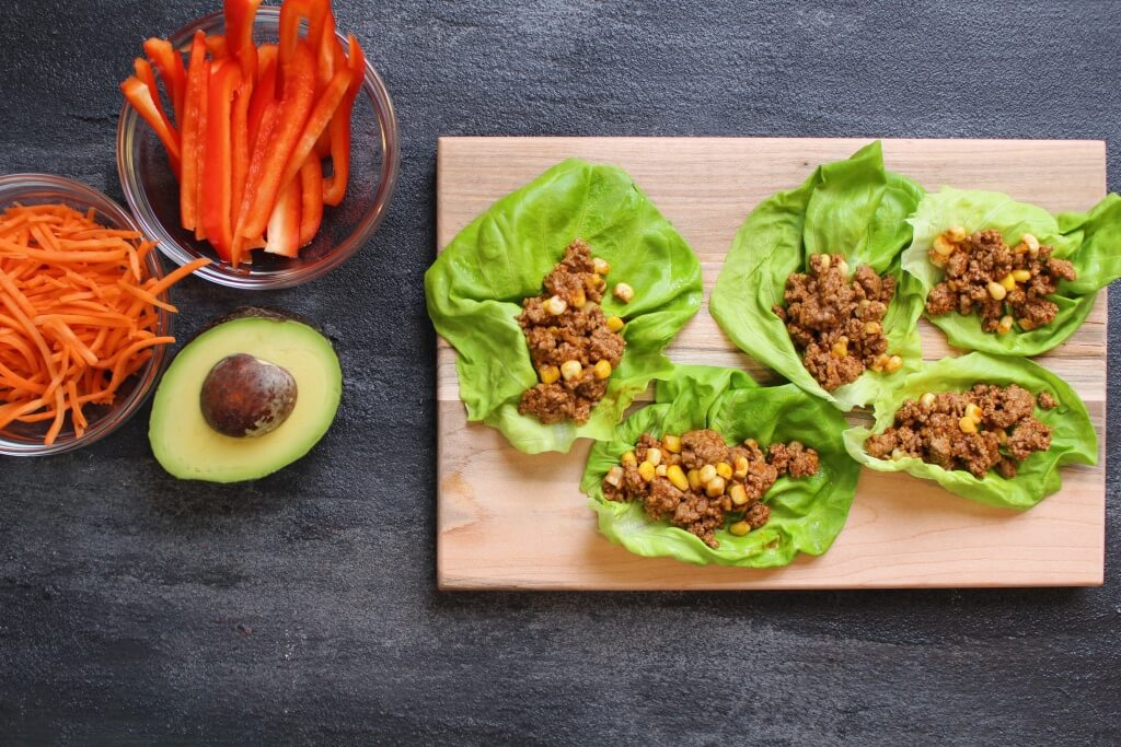 Taco lettuce wraps are a lighter take on the classic Ground Beef taco. Packed with protein and lots of flavor, and a nice low-carb weeknight meal.