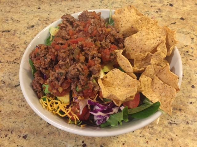 Mom's favorite: Simple leftover taco salads!!!