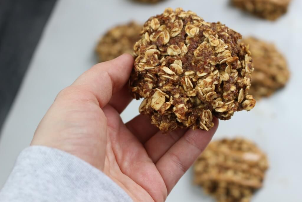 Lower in sugar than store bought options, these homemade oatmeal breakfast cookies are filled with healthy ingredients needed to start any busy day!
