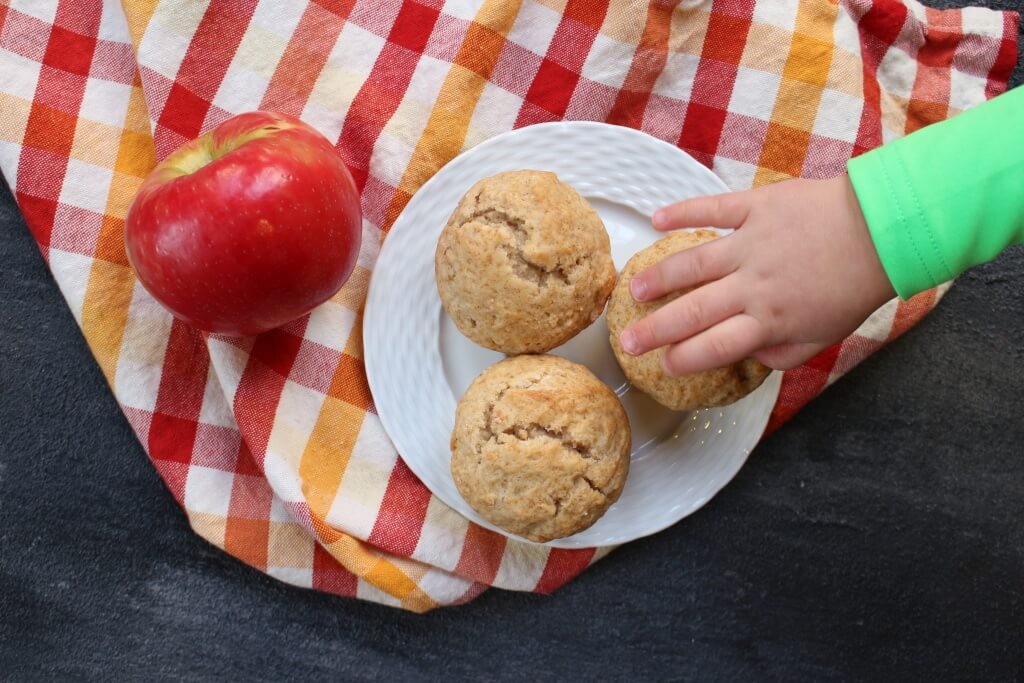 These delicious Cinnamon Applesauce Muffins are sweetened with applesauce and spiced with cinnamon. And they make a simple breakfast or snack for those busy on-the-go mornings!