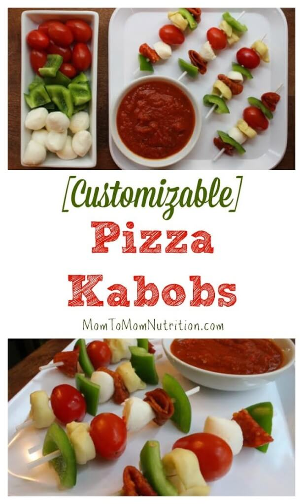 Pizza Kabobs make the perfect kid-friendly, customizable meal! Just take your favorite pizza toppings, skewer, and voila!