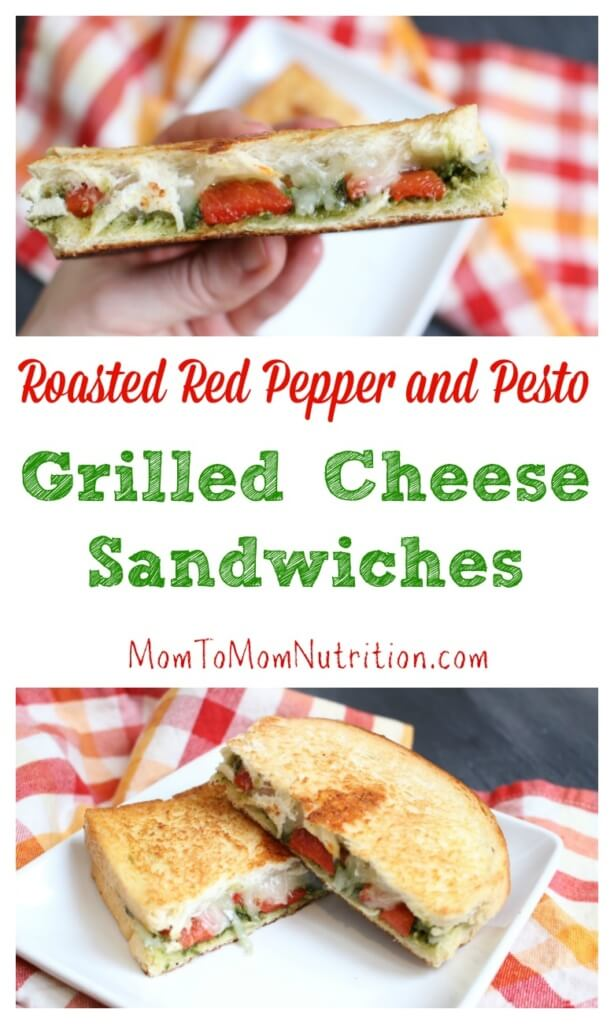 Roasted Red Pepper and Pesto Grilled Cheese Sandwiches ...