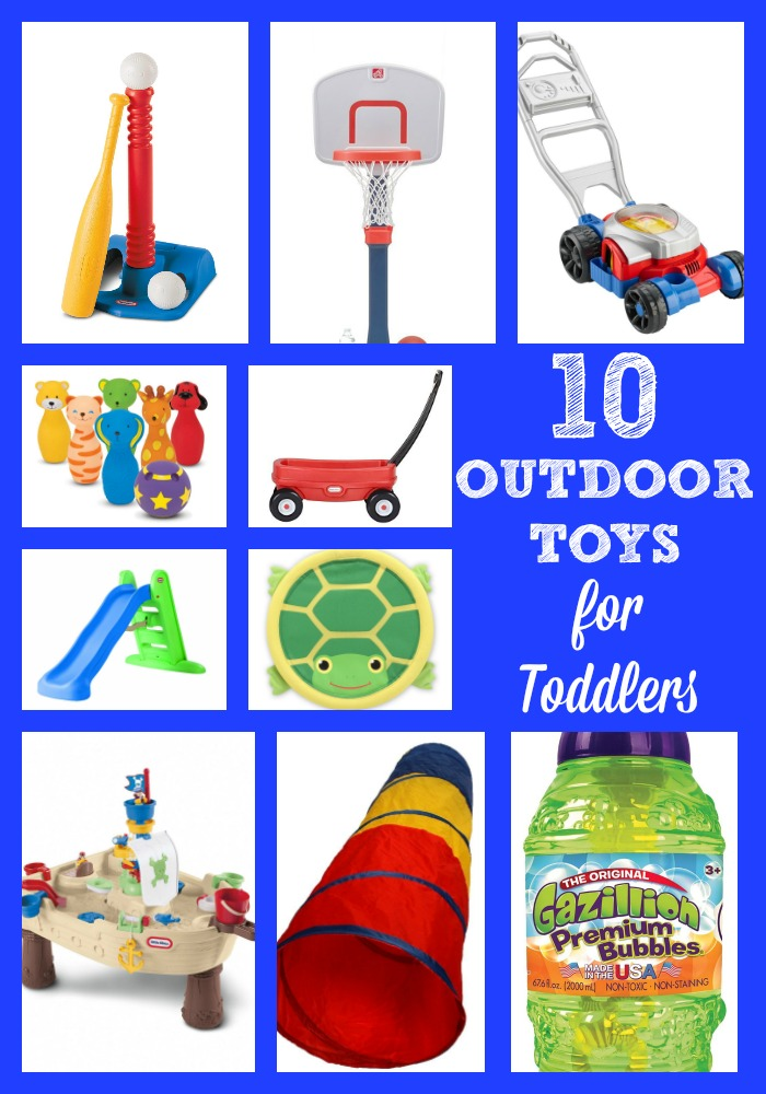 10 outdoor toys for toddlers that are sure to keep your little one busy and active during the warm summer months!