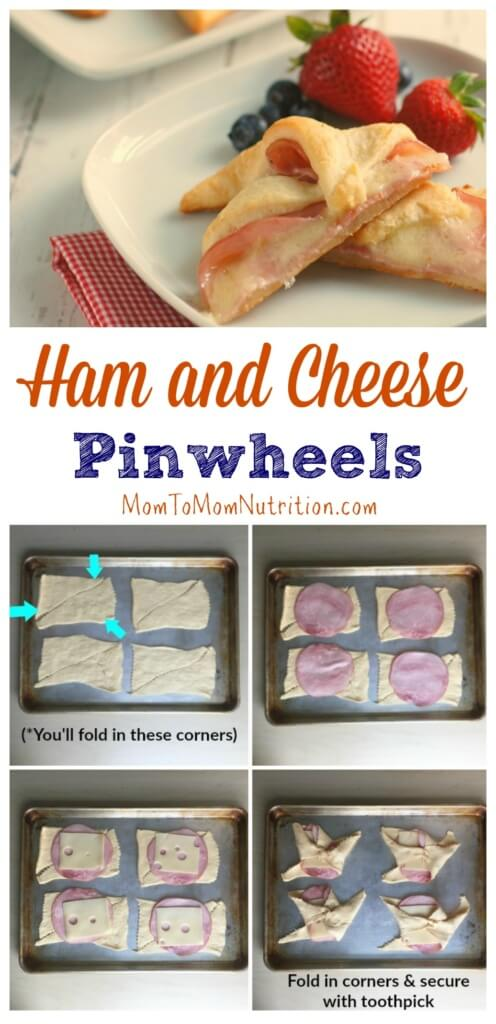 With just 3-ingredients, flaky Ham and Cheese Pinwheels are a no-fuss meal or snack the whole family can help make!