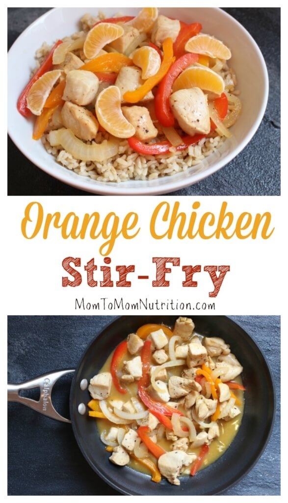 15-minute orange chicken stir-fry satisfies any craving for takeout with a healthy, light and flavorful orange sauce made from pantry staples like orange juice and soy sauce.