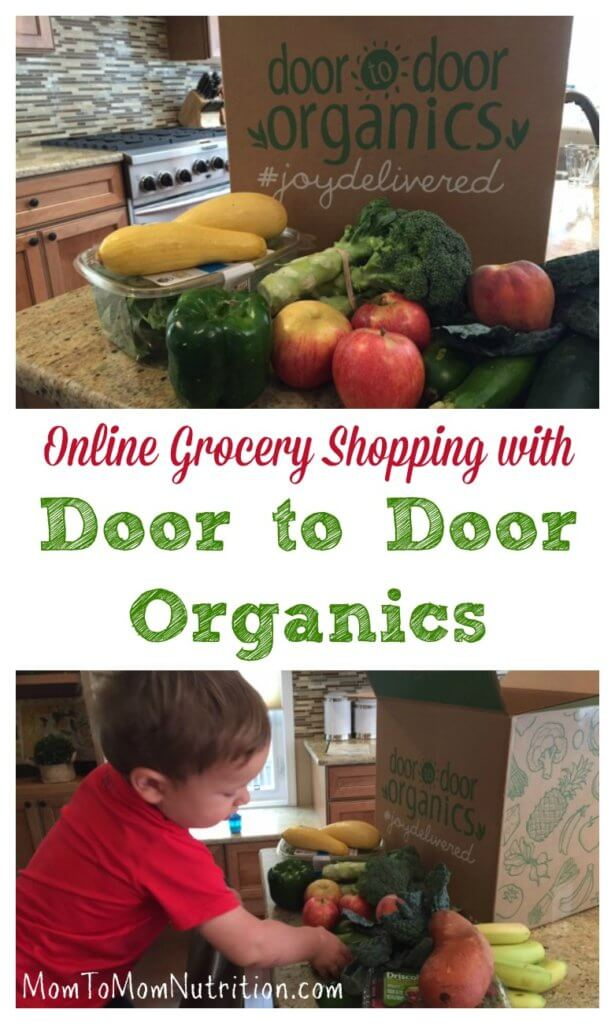 Make healthy eating easy with an online grocery shopping like Door to Door Organics, where you can customize the foods your order for your family!