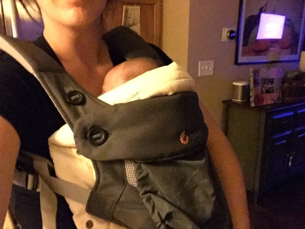 In fact, I'm pretty much wearing this baby carrier and baby 24/7. The Ergo needs a frequent wash too!