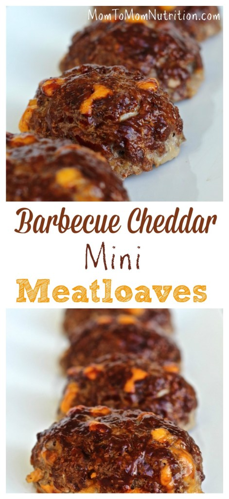 These kid-sized barbecue cheddar mini meatloaves are flavored with barbecue sauce and studded with yummy cheddar cheese.