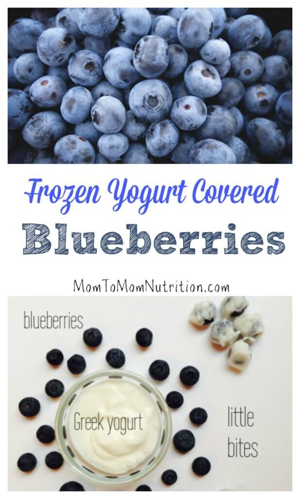 These icy frozen yogurt covered blueberries are a nutritious treat made with just two ingredients. The best part? They appeal to the whole family!