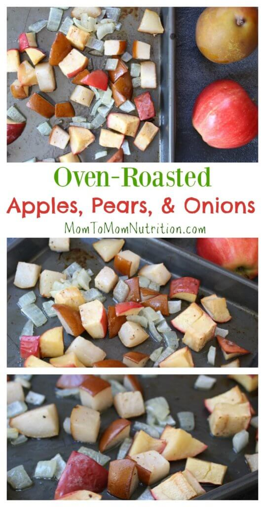 Bring out the delicious flavors of fall with this simple side dish of oven-roasted apples, pears, and onions.