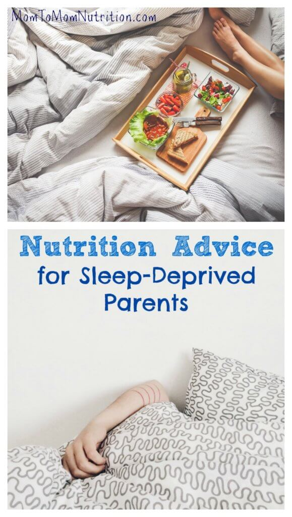 Learn some tips for healthy eating when you are running on limited sleep, caring for small children, and trying to lose the baby weight.