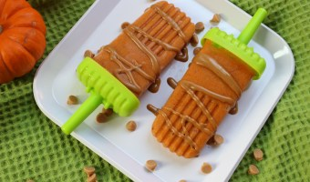 Pumpkin spice popsicles are made with a creamy combination of canned pumpkin, Greek yogurt, and all the flavors and spices of fall!